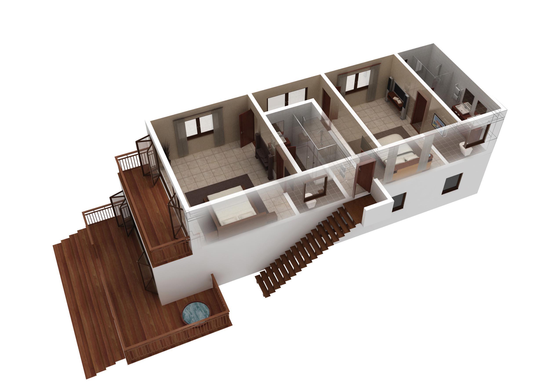 Villa Floor Plan 3d Floor 3d Floor Plan Jpg