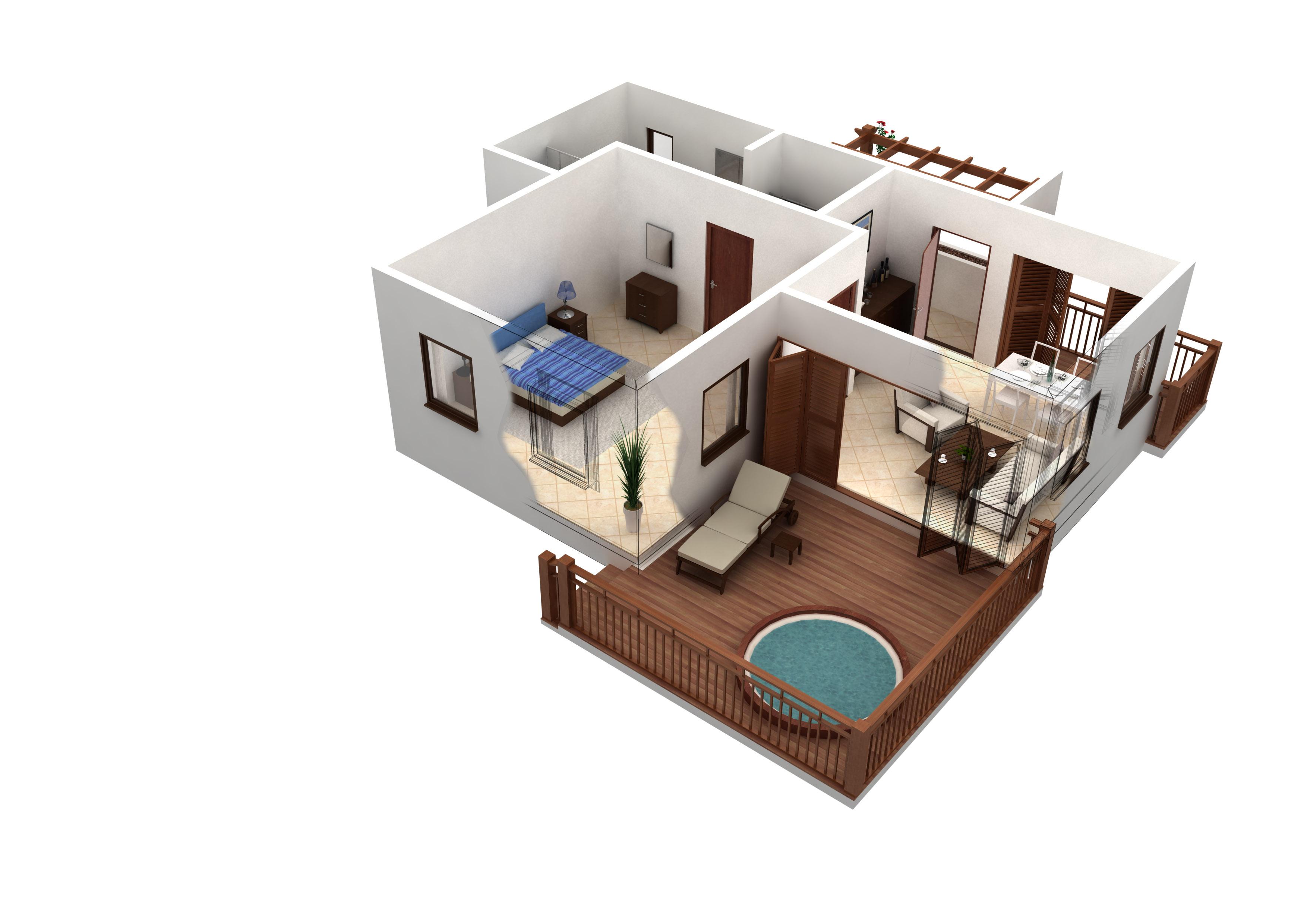 Merricks 1 Bed Cabana Floor Plan 700 Sq Ft ...